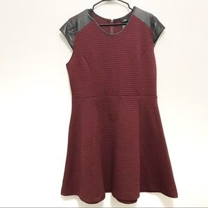 Mossimo Maroon and Black Quilted Swing Dress